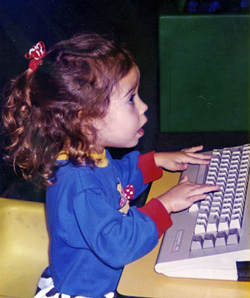 Little Girl at the computer