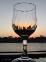 Photo of sunset in glass by Lynn Ward